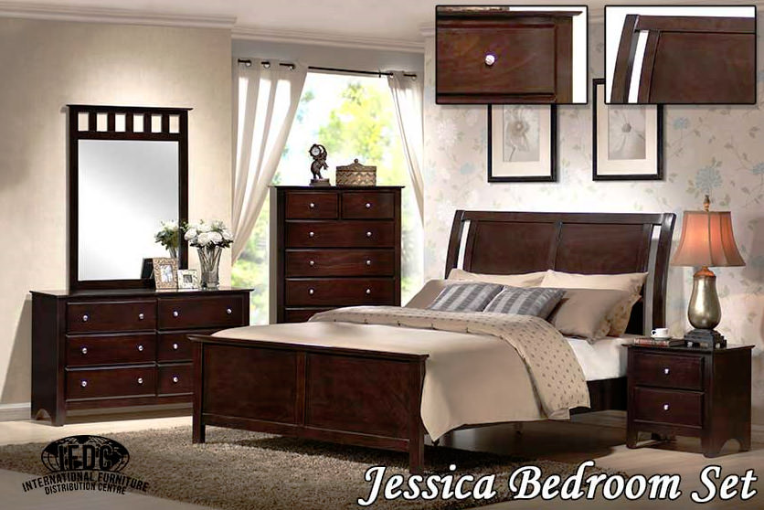 Jessica expresso bedroom set sleep masters canada for Best deals on bedroom furniture sets
