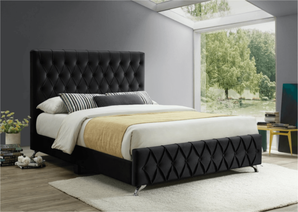 Alicia Black Velvet Bed