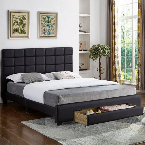 Maxine Bed Black Storage