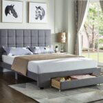 Grey Fabric Storage Bed