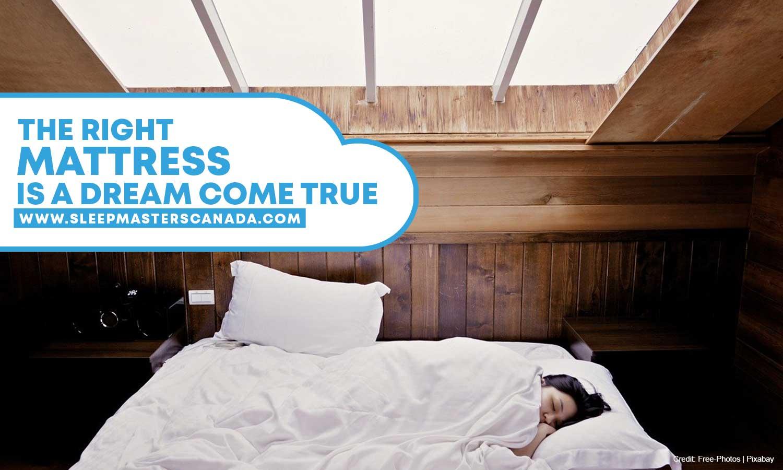 The right mattress is a dream come true